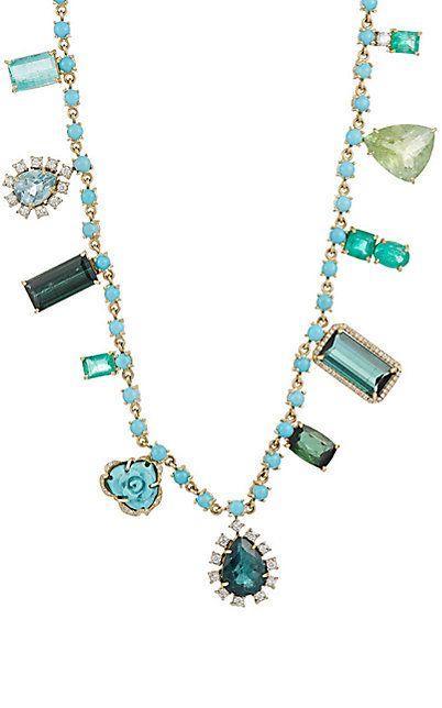Irene Neuwirth Diamond Collection Mixed-Gemstone Necklace - - Barneys.com