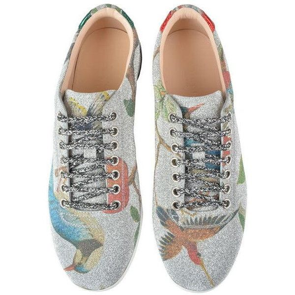 Gucci Glitter Bird Print Trainers ($570