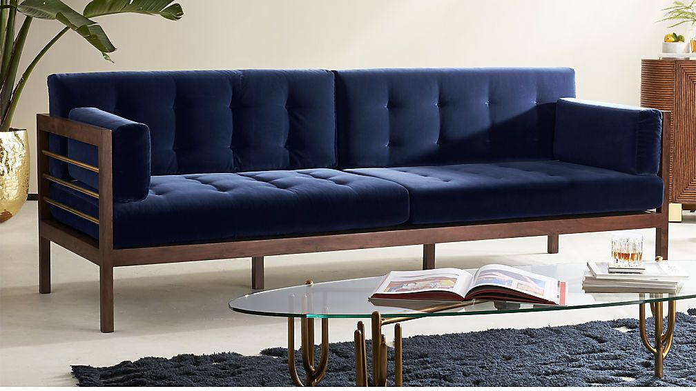 Stupendous Hollywood Midnight Blue Velvet Sofa House Into A Home Pdpeps Interior Chair Design Pdpepsorg