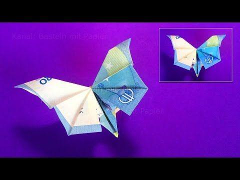 Geldscheine Falten Schmetterling Geld Falten Geldgeschenke