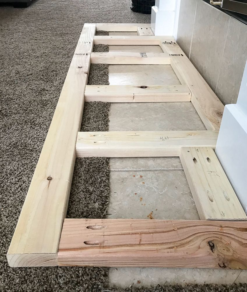 How to Build a Raised Fireplace Hearth - Repurpose Life