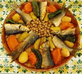 Recette couscous djerbien au poisson cuisine tunisienne cuisine marwen pinterest - Recette cuisine couscous tunisien ...