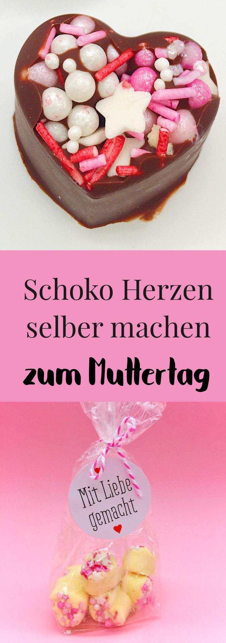 Geschenke Zum Muttertag Selber Machen : herzen aus schokolade selber machen einfache ~ Watch28wear.com Haus und Dekorationen