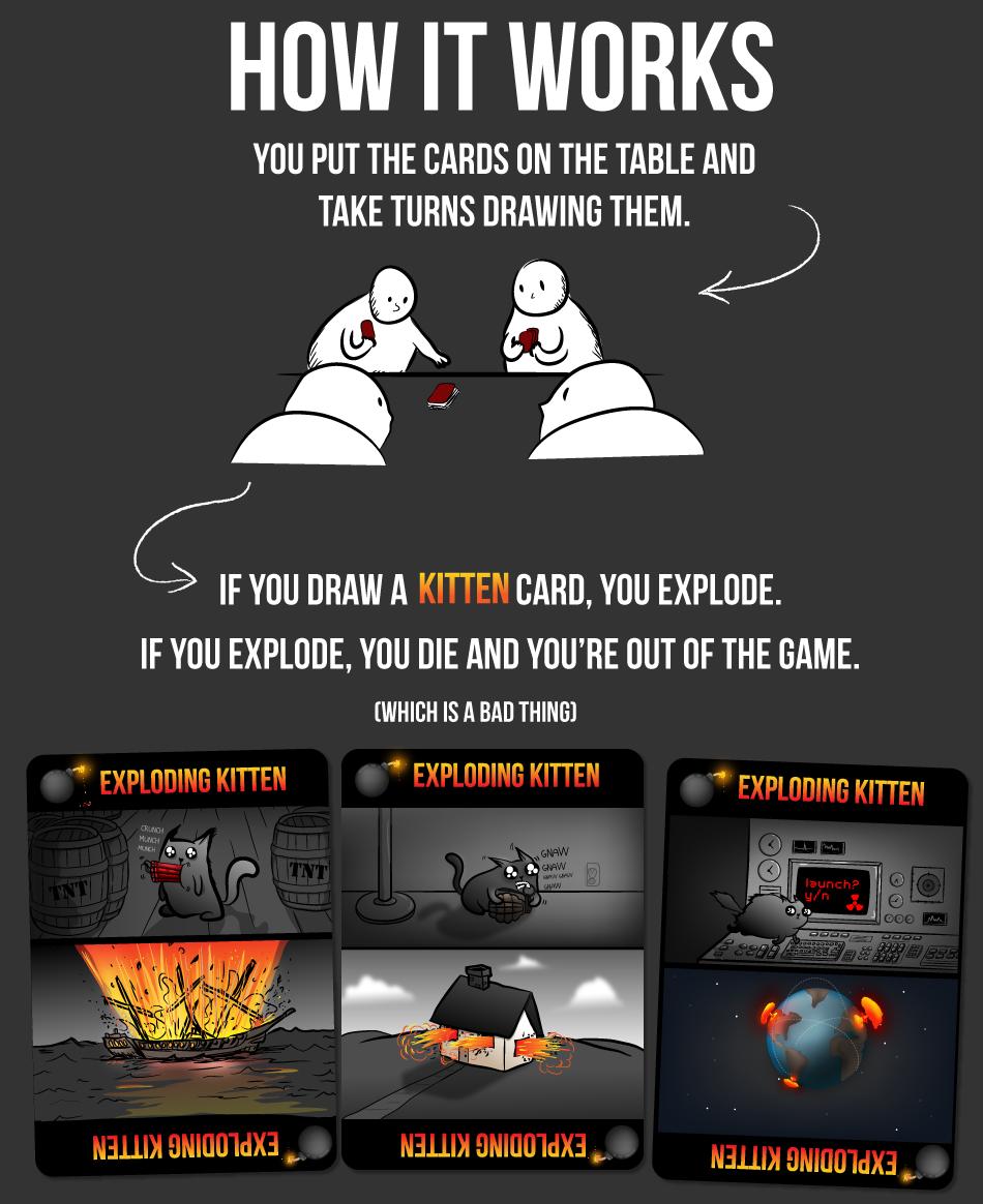 How It Works Exploding Kittens Exploding Kittens Card Game Card Games