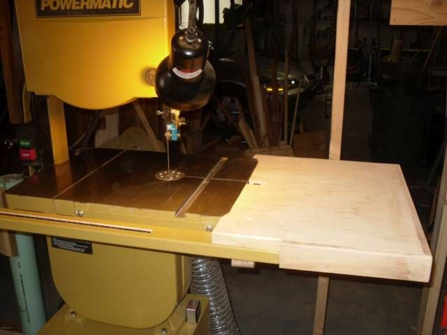 Powermatic Band Saw Extension Table Woodworking Topic By Kelly Extension Table Bandsaw Table