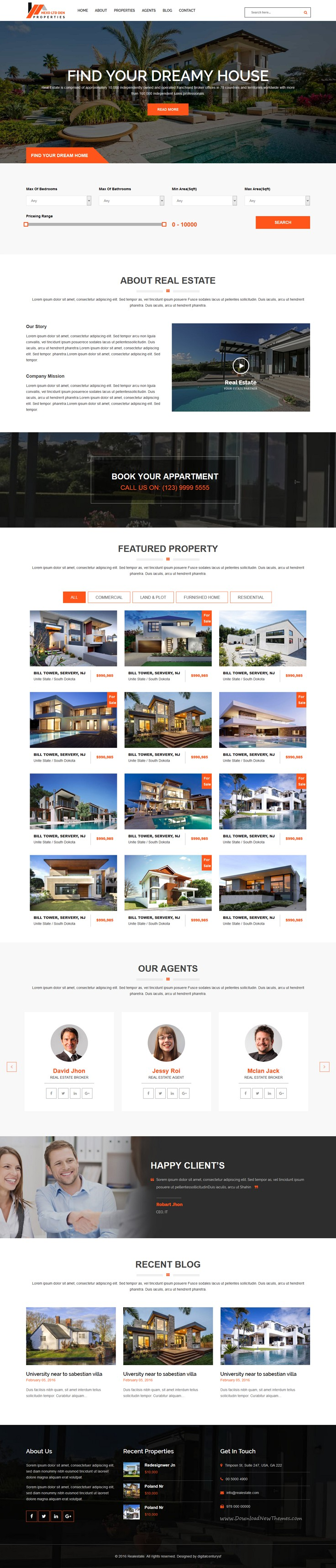 Hexo - Premium RealEstate HTML Template | Template and Real estate ...