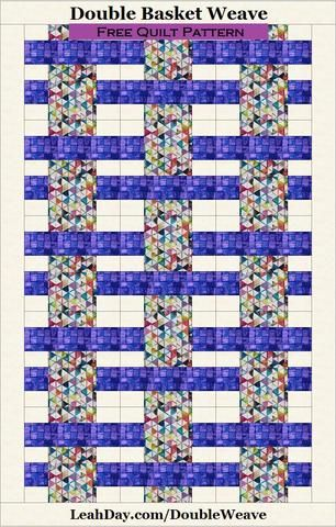 Double Basket Weave Quilt Pattern Free Quilt Pattern Quilts Cool Basket Weave Quilt Pattern