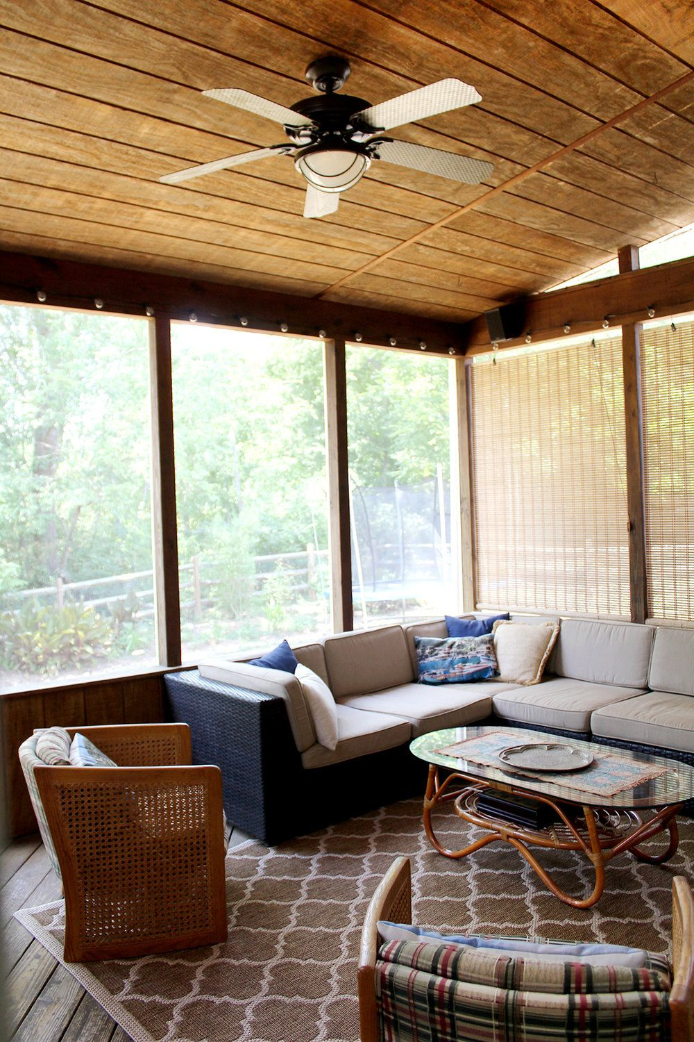 A Screened In Porch On A Budget House With Porch Rustic Home