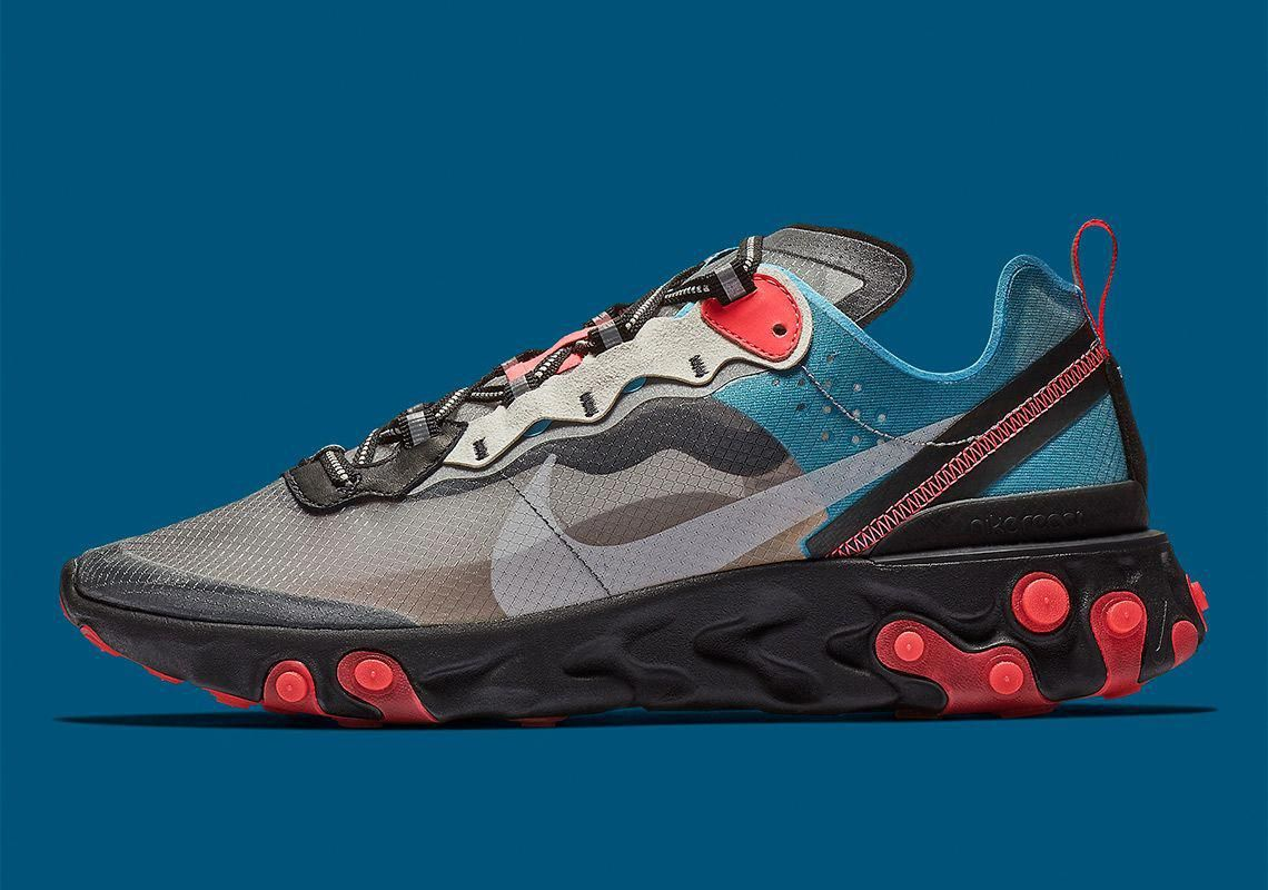 ee9076a7700d Nike React Element 87 Blue Chill Solar Red AQ1090-006