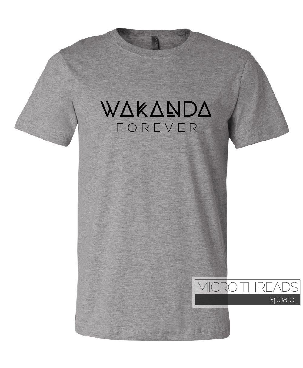 7546aae25 Wakanda Forever Black Panther Adult T-Shirt - Infinity War - Funny Comic  Book Shirts - Guardians - Unisex Shirt - Thanos by MicroThreads on Etsy