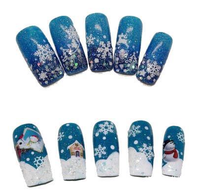 12 Sheets Christmas Snowflake 3d Nail Sticker Nail Art Decals Tips