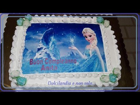 Torta Frozen Con Panna E Cialda In Pasta Di Zucchero Con Immagini