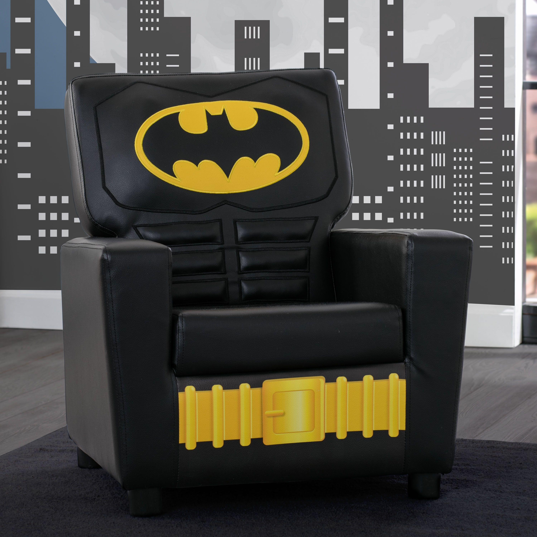 Delta Children Dc Comics Batman High Back Upholstered Chair Black