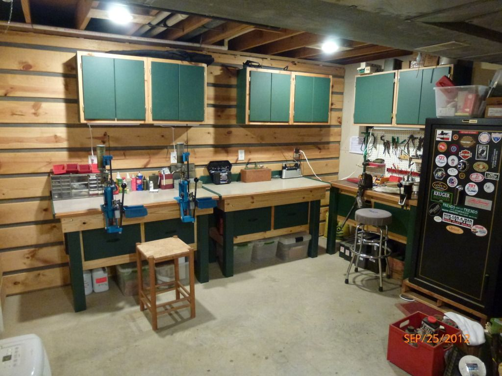 Simple Man Cave Garage : Man cave reloading room in garage pinterest