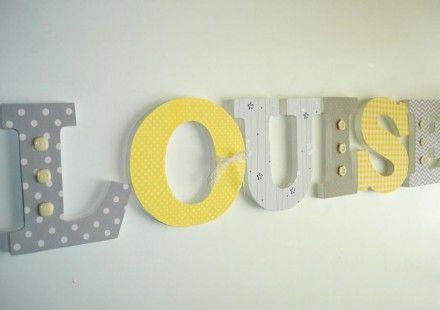 lettres en bois pr nom louise d coration pour enfants. Black Bedroom Furniture Sets. Home Design Ideas