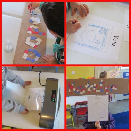 Elections day (making campaign signs) Teach Preschool