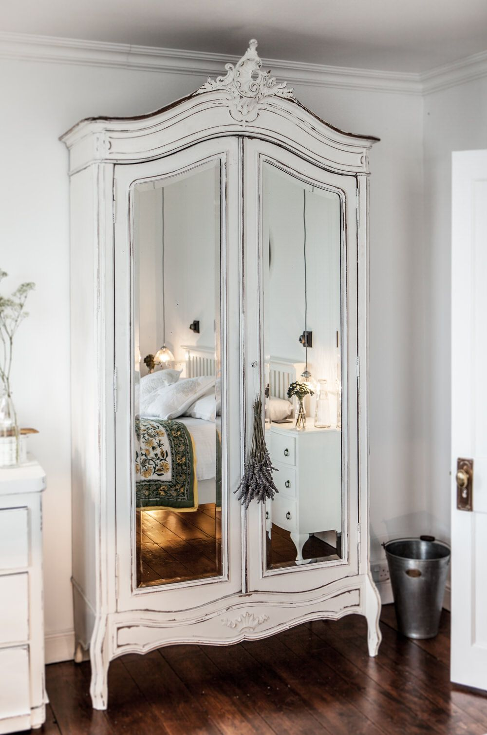 Distressed Armoire | The Cuttlefish | Luxury Self Catering Holiday Cottage  Positioned In The Desirable Cornish