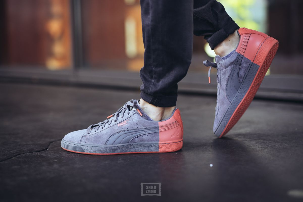 basket-staple-x-puma-suede-frost-gray-georga-peach-1 | Casual | Pinterest |  Puma suede, Pumas and Frosting