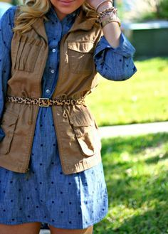Outfit Chambray, Chambray Tunic, Tunic Vest, Dandy Blog, Dandy Shop, Layers Dandy, Outfits D, Winter Outfits, Winter Attire