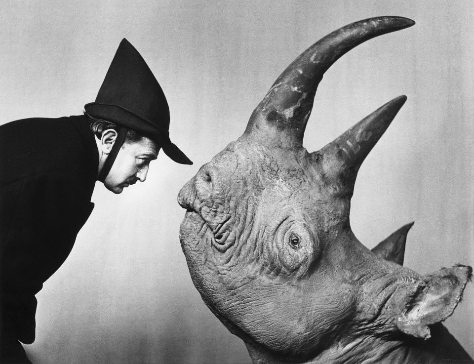 """""""Dalí y Rinoceronte"""" 1956. Philippe Halsman"""