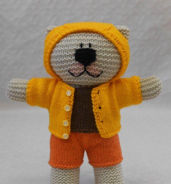 Knit Boy Teddy Bear Outfit PDF Knitting Pattern with ...