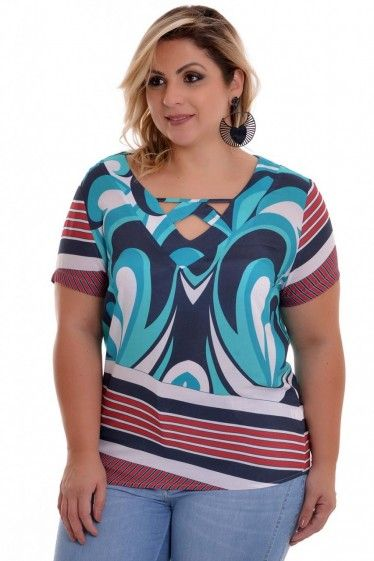 ad0500be2 Blusa Plus Size Francine