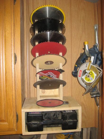Simple Saw Blade Storage Rack For Fun Saw Blade Storage Woodworking Storage Woodworking