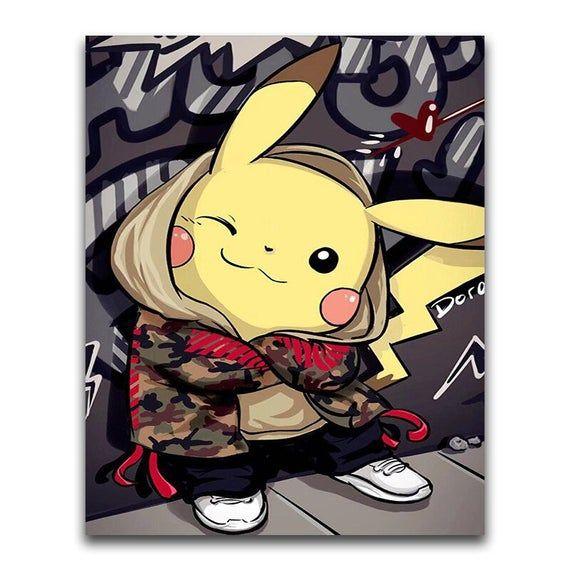 5D Cartoon Animal Diamond Painting Pokemon Diy Diamond Embroidery Square / Round Full Drill Cross Stitch Kit