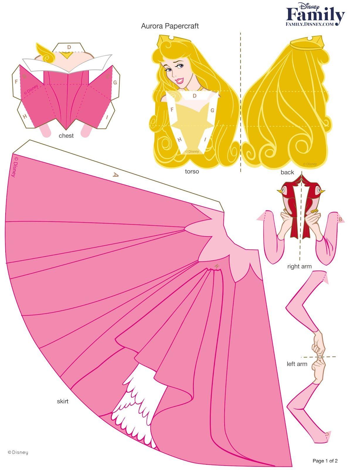 Princesas Disney 3 D Moldes Paper Craft Com Imagens Artesanato