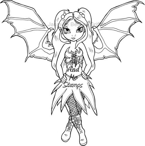 fairies gothic coloring pages - photo#20