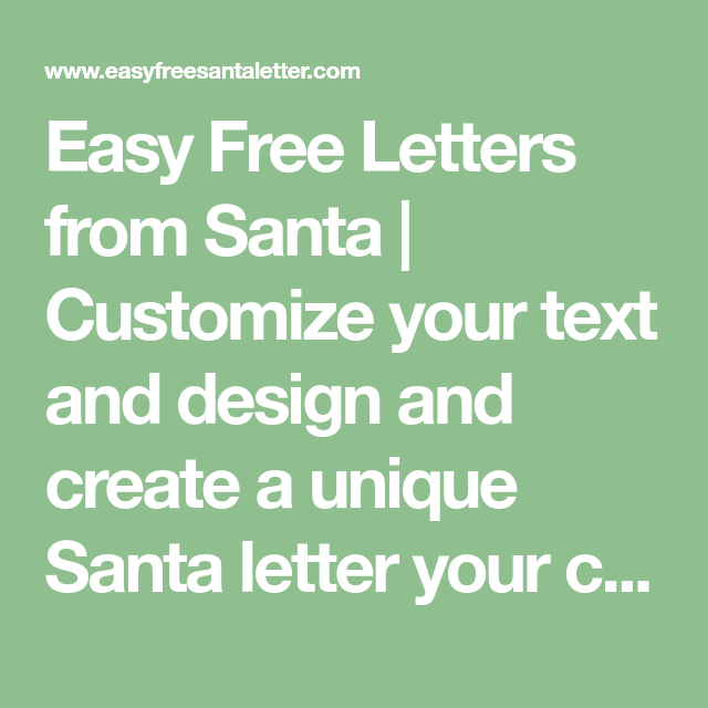 Easy Free Letter From Santa Magical Package  Santa Stationary