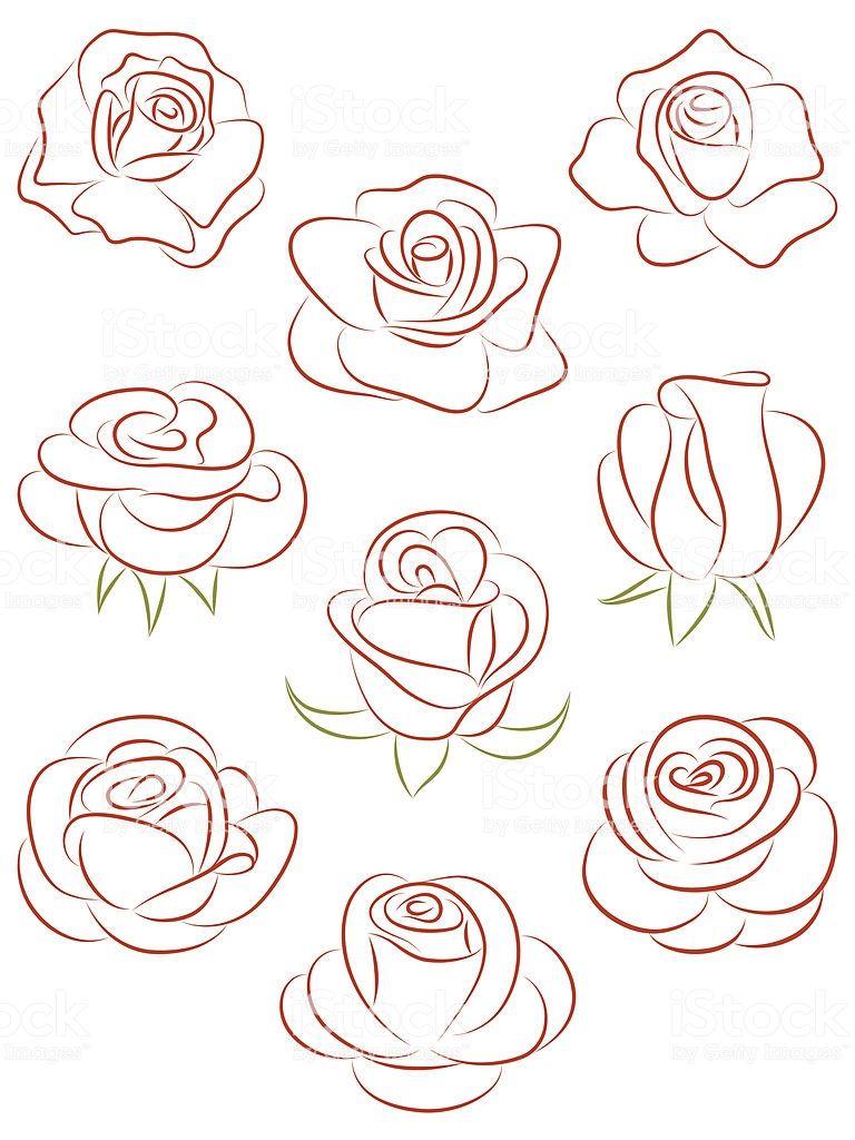Satz von Rosen. Vektor-illustration.