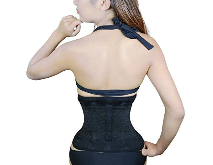 3a24cfe484 Jenx Fitness Unisex Waist Trainer Premium Quality Waist Trimmer Great Back  Spine Support and Reduce Back Pain at Amazon Women s Clothing store