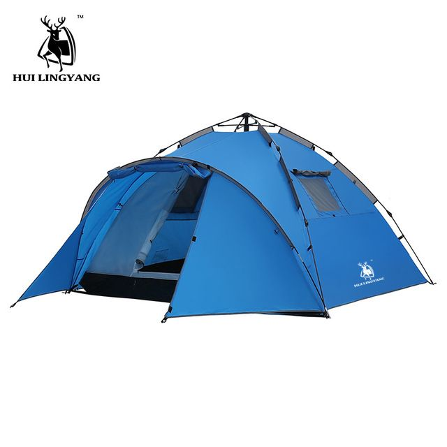 Camping Tent Large Space Double Layer 3 4 Person Tents