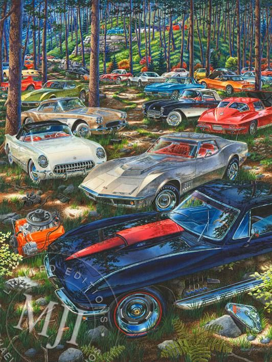 C1 See Them All From The Muscle Car Landscapes Series An