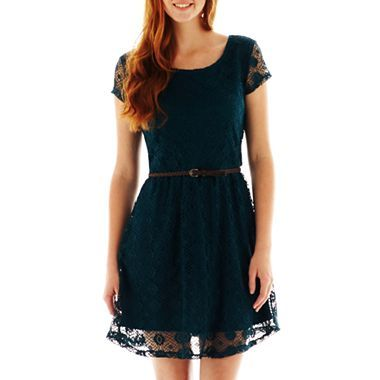 7279cd4ccf6 Love Reigns Belted Skater Dress - jcpenney from  38 to  22! 11-21-13 ...
