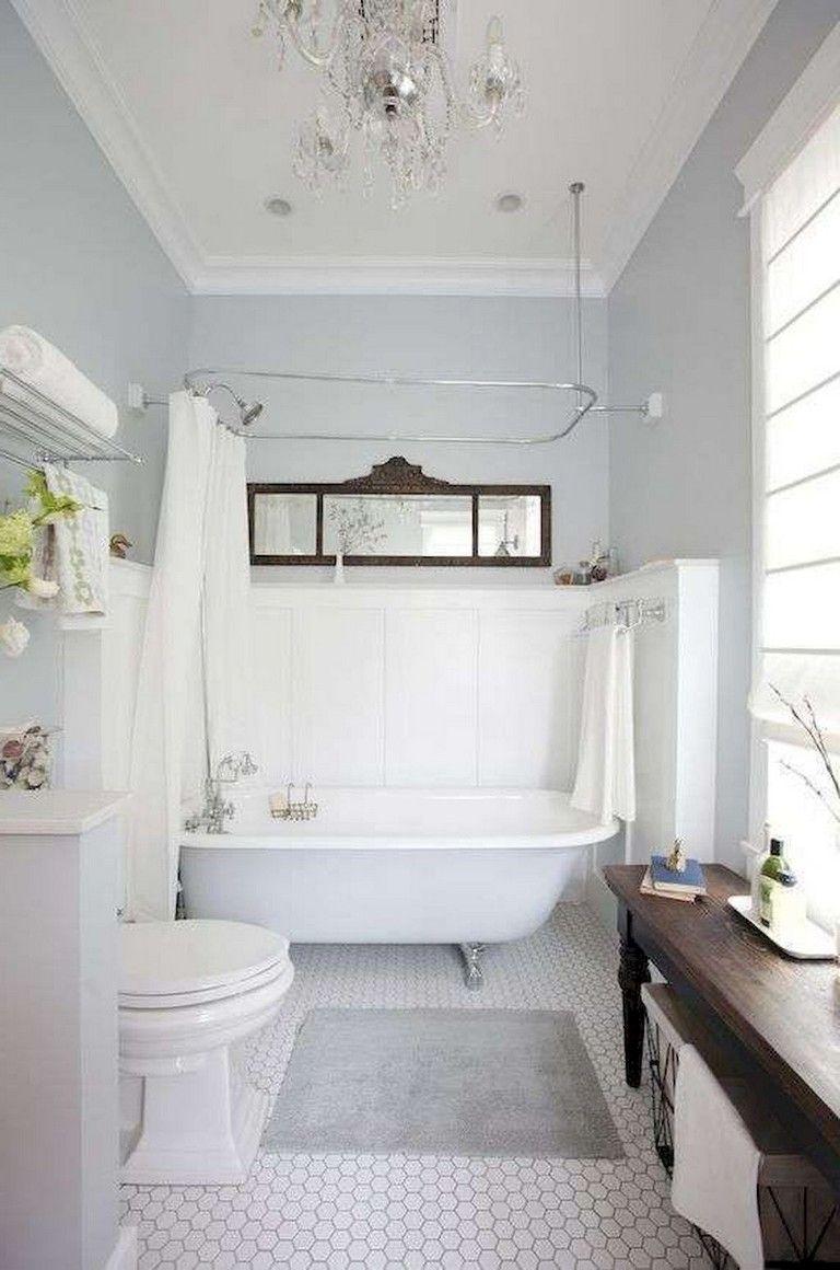 78 Lovely Bathroom Shower Remodel Ideas Modern Vintage Bathroom Shabby Chic Bathroom Bathroom Remodel Shower