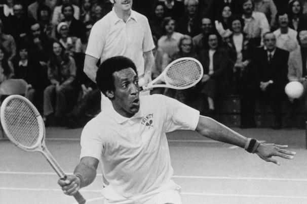Bill Cosby playing tennis