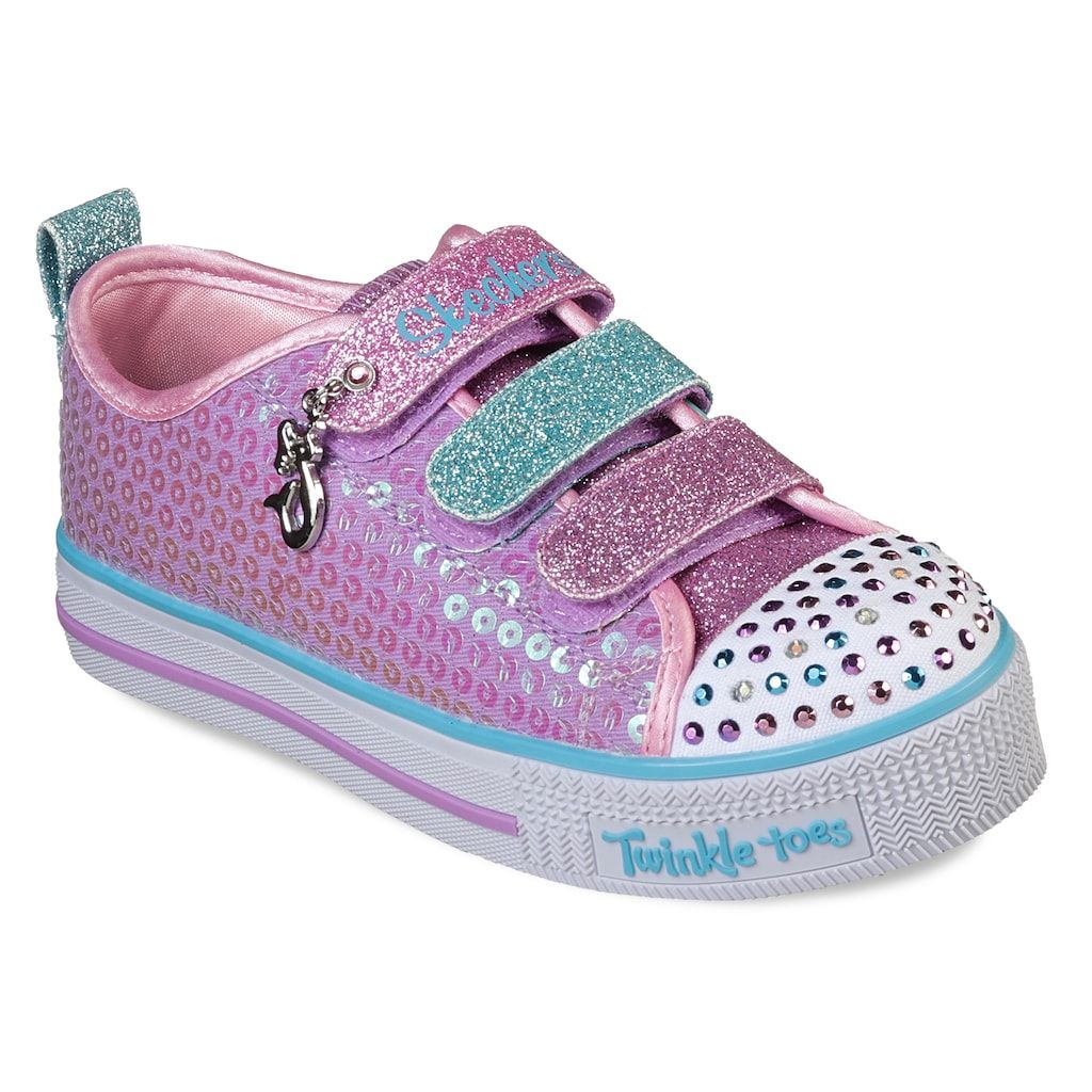 c525e15f9eccf Skechers Twinkle Toes Twinkle Lite Mermaid Magic Girls' Light Up Shoes, Size:  12, Blue