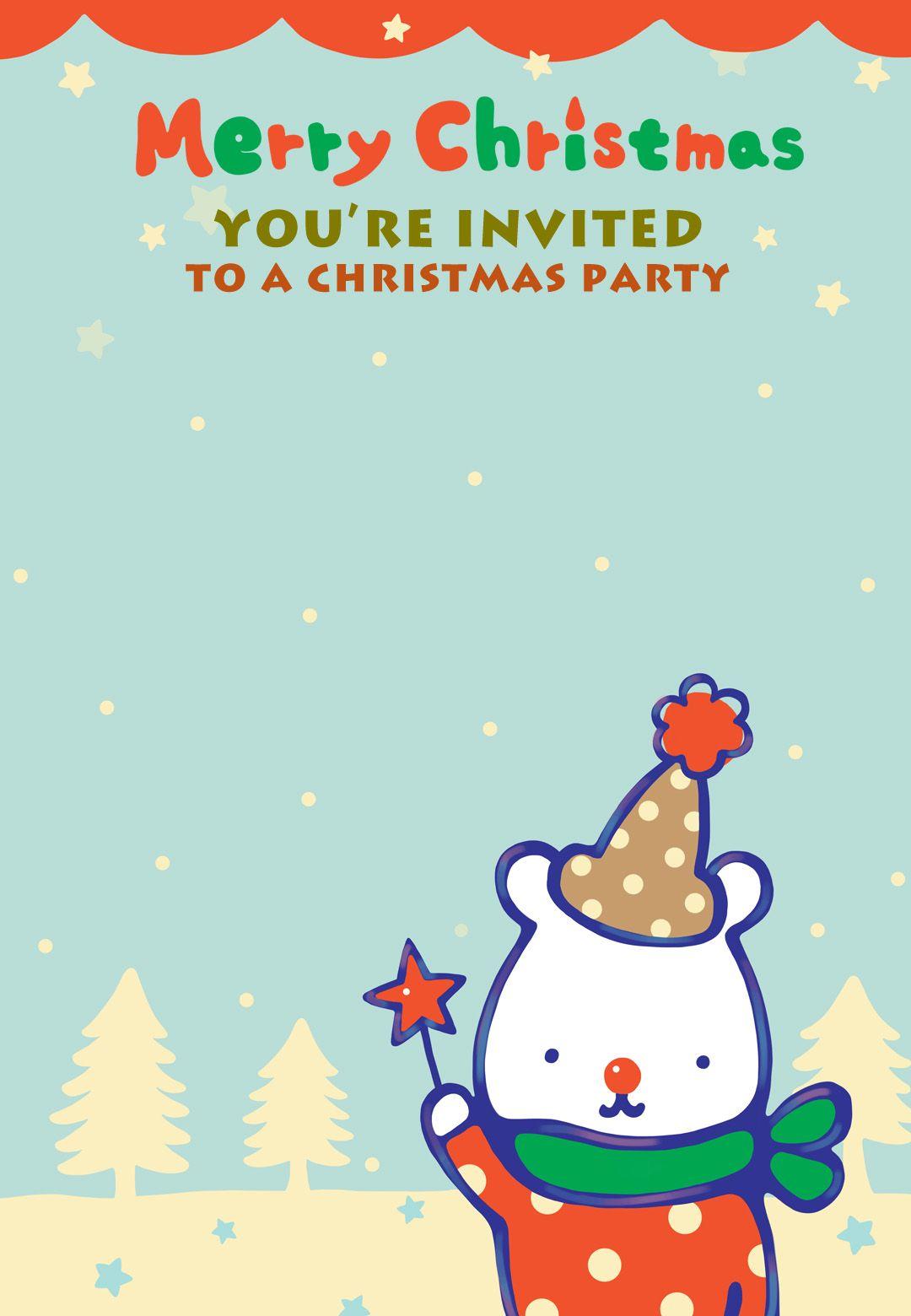 Free Printable Christmas Party Invitation Invitation   Christmastime ...