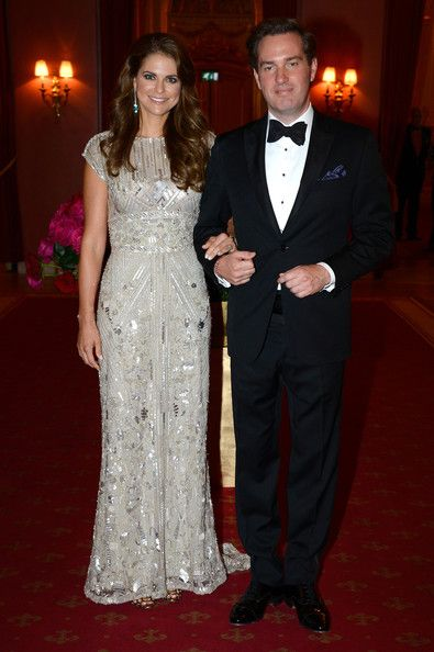 """Princess Madeleine of Sweden and Chris O'Neill arrive at Grand Hotel, Stockholm for the pre-wedding dinner on June 7th; wedding of Princess Madeleine of Sweden and mr. Christopher """"Chris"""" O'Neill, June 8th 2013"""