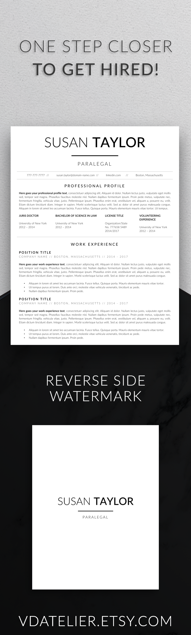 Law resume template for modern professionals Suitable
