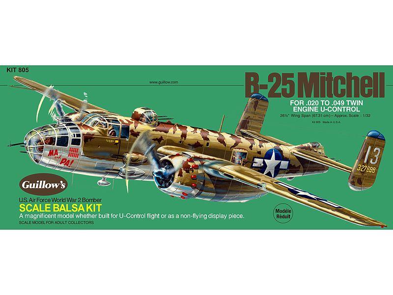 Guillow North American B25 Mitchell Wooden Aircraft Kit | Balsa