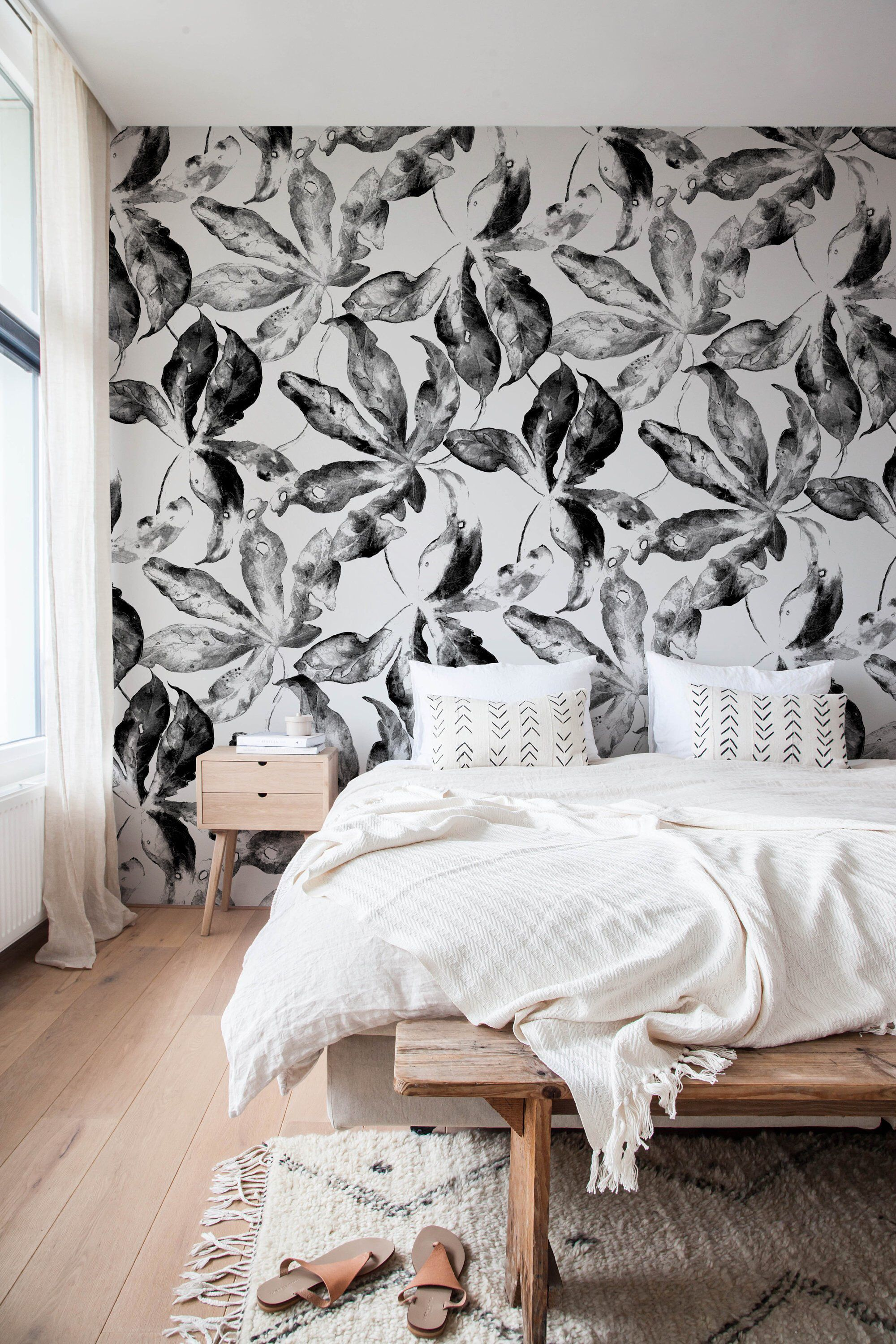 Black And White Wallpaper Peel And Stick Wallpaper Removable Etsy Removable Wallpaper Peel And Stick Wallpaper Wall Design