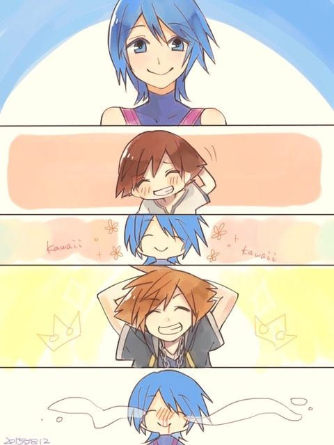 Aqua meeting Sora as a child and again when he saves her ... Terra And Aqua Fanfiction