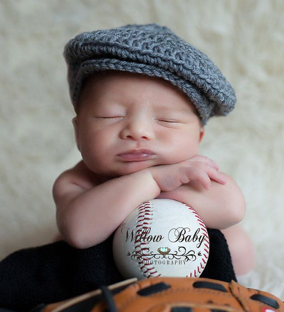 ffb7dfe92b4 READY Baby Boy Hat - Baby Newsboy Hat - Baby Hat - Grey - Just too Cute -  More Colors Available