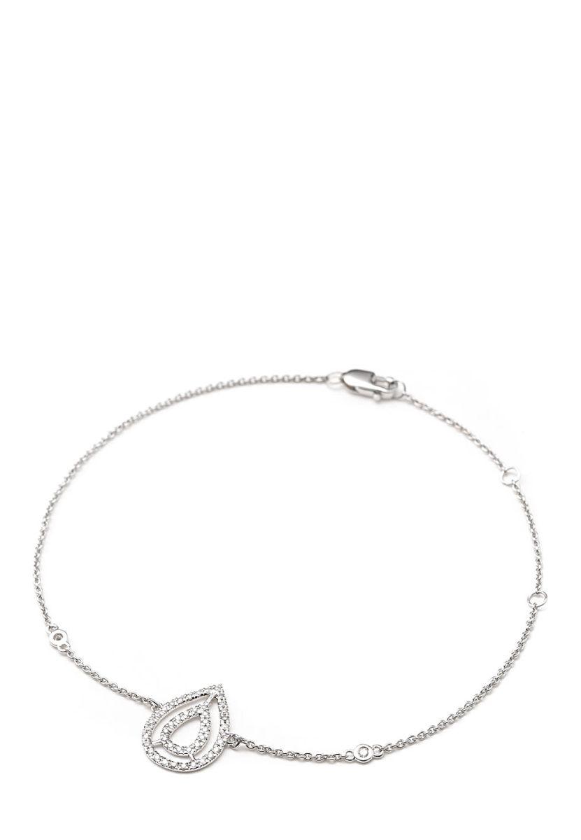 Jewelry OF India Armband, 9K Weißgold, Diamant silber Jetzt ...