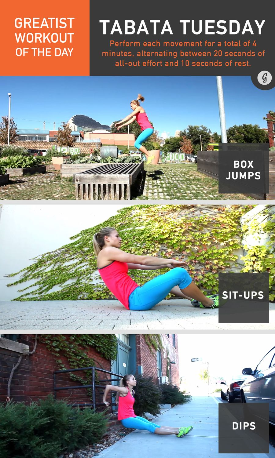 Greatist Workout of the Day: Tuesday, December 1st photo