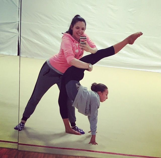 Sophia Lucia Stretching 24 March, 2015