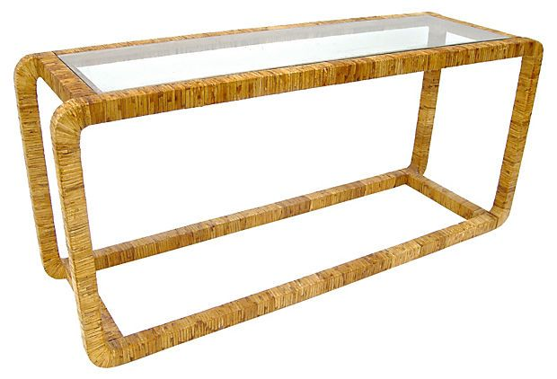 Wondrous Rattan And Glass Console For The Home Decor Table Rattan Ibusinesslaw Wood Chair Design Ideas Ibusinesslaworg
